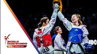 Roma 2018 World Taekwondo GP -Final [Female +67Kg] KOWALCZUK, ALEKSANDRA(POL) Vs MANDIC, MILICA(SRB)