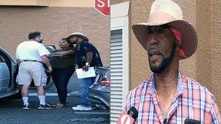 Man That Protected Pregnant Woman From Crazed Lunatic Identified As Derrick Brown