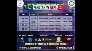 3rd T-20 Pakistan-Nepal Women Blind Cricket Series