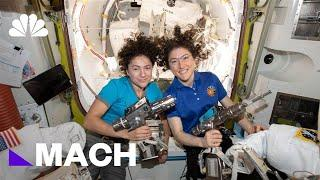 Watch NASA Astronauts Make History In First All-Female Spacewalk | Mach | NBC News