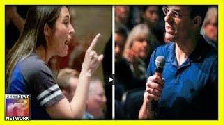 Wow! Female Trump Supporter DESTROYS RINO Justin Amash at Town Hall in Michigan