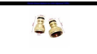 """1pc 1/2"""" and 3/4"""" Female Thread Brass Copper Quick Connectors joints Home Garden Watering Accessor"""