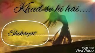 Tumse ab kaisa shikwa||Female version||New Sad whatsapp status video
