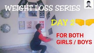 | DAY 2 | Girls / Boys FAT LOSS Workout AT HOME! ( हिन्दी ) | SANGWAN FITNESS VLOGS