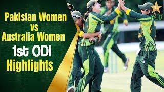 Highlights - 1st ODI: Pakistan Women vs Australia Women, Kinrara Academy Oval Kuala Lumpur