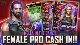 MELLA IN THE BANK!! ???? HUGE MITB FEMALE PRO CASH IN! ???? | WWE SuperCard S4