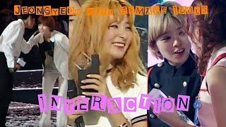 Twice Jeongyeon with Female idols (Interaction )