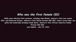 Who was the first female CEO