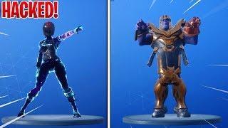 *NEW* Fortnite DANCE EMOTES With HACKER SKINS! - THANOS, Female Galaxy (Fortnite Battle Royale)