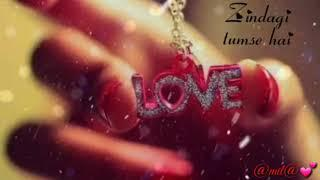 Zindgi ki kasam ! Female version ! Romentic whtsapp video song status!  Beautiful love song status !