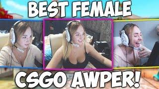 BEST FEMALE CS:GO AWPER! Free-Agent & Streamer (BEST HIGHLIGHTS & PLAYS!)