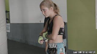 12-Year-Old Female Kickboxing Prodigy Gisele Werth training with Henri Hooft
