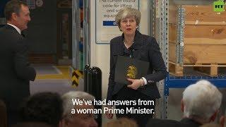 Theresa May delivers sass to heckler on #IWD2019