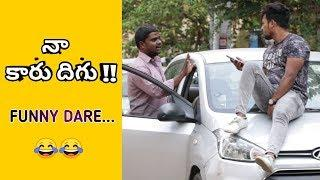 Sitting On Top of the car | Comment Trolling Dares | Vinay Kuyya