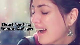 Heart touching female dialogue WhatsApp status video