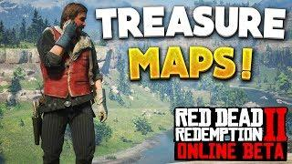 Red Dead Online Bards Crossing Treasure Map All Locations! RDR2 Online Money & Gold Bars
