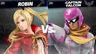 Female Robin vs Captain Falcon Super Smash Bros Ultimate