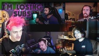 Destiny on TOP 50 Female streamers - Greek Comeback Roast - Ninja complaining losing Twitch SUBS!