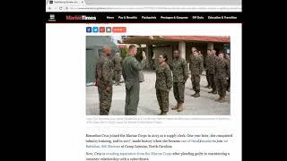 Feminist female kicked out of Marines for riding too many K l OCKS