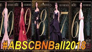 TOP 10 WINNERS Best Dressed ABS CBN BALL 2018 Female