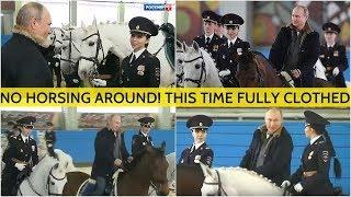 JEALOUS!? Putin Rides Horse Alongside Stunning Russian Female Police Officers