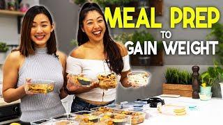 Meal Prep to Gain Weight for Female (Lean Bulking) | Joanna Soh