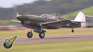 Female Fighter Pilot Flies Awesome P-40 Warhawk Display