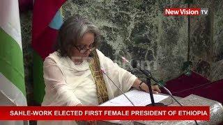 Sahle-Work elected first female president of Ethiopia