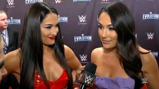 The Bellas, Trish Stratus and more walk the red carpet for WWE Evolution