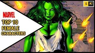 Marvel's Top 10 Female Characters In Comics | Explained In Hindi |