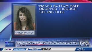 Bare buns: Half-naked woman falls through Kinsport Cook Out ceiling
