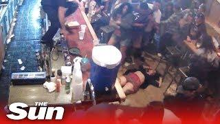 Woman knocked out over place at the bar