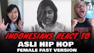Indonesians React To Asli Hip Hop (Female Fast Version) - Ranveer Singh | Gully Boy | Sai Pawar