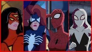 Spider-Woman/Spider-Gwen/Spider-Girl Evolution in Cartoons & TV (2018)