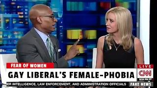 Gay Liberal Freaks Out When Touched by Female CNN Panelist