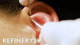 I Got A Custom Constellation Piercing From Brian Keith Thompson | Macro Beauty | Refinery29