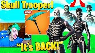 Skull Trooper Returns! Streamers React to Female Skull Ranger Styles & Ghost Portal Backbling!