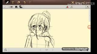 Drawing Anime characters! ( Teenaged girls ) Sorry theres no music......