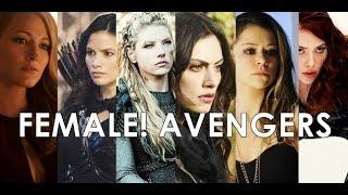 female! avengers   team [au]