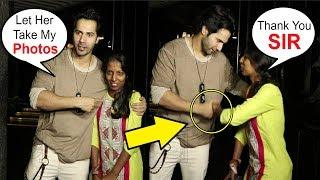 Varun Dhawan Shows RESPECT For A Female Photographer Taking His Photos