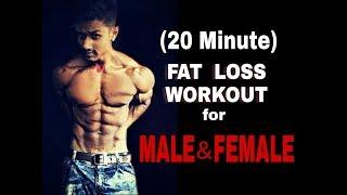 Male female 20 minute fat loss workout.