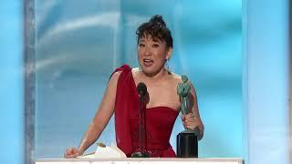 Sandra Oh | Best Female Actor in a Drama | Series Killing Eve | sag awards 2019