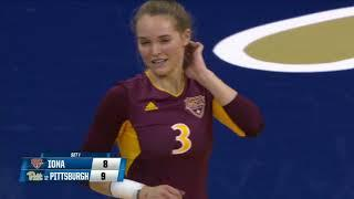 Iona vs  #12 Pittsburgh (First Round) | Women Volleyball Championship 2018
