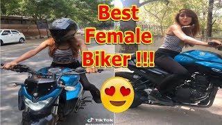 RTR 160-4V riding by Female Biker ???? | Best Female Biker Video