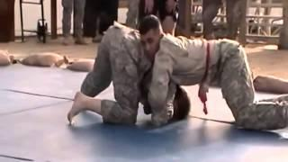 ARMY PRIVATE (PFC) Chokes Out Female CAPTAIN (CPT)