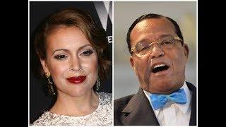 Alyssa Milano condemns Louis Farrakhan- Vicki Dillard calls out her racism