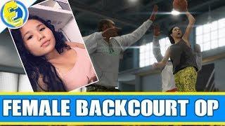NBA LIVE 19 FEMALE backcourt defender OP she dunking on everyone