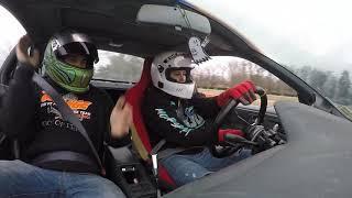Female drifts stock Nissan 240sx