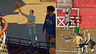 GETTING OUT PLAYED BY A FEMALE HOOPER! UNLOCKED A NEW 2V2 COURT? - NBA 2K19 MyCAREER