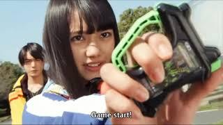 ALL FEMALE KAMEN RIDERS HENSHIN SCENE